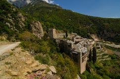 Kloster av Saint Paul, Mount Athos royaltyfri bild