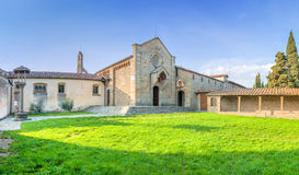 Kloster av San Francesco på den Fiesole kullen i Firenze, Italien Arkivfoto