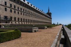 Kloster av San Lorenzo de El Escorial madrid spain royaltyfri fotografi