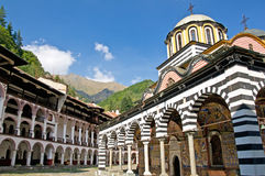 Kloster av Sanktt Ivan av Rila Arkivbild