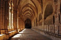 Kloster av Santa Maria de Santes Creus, Spanien Arkivfoto