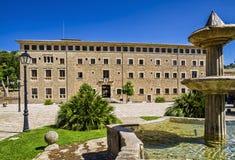 Kloster av Santuari de Lluc Arkivbild