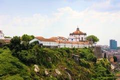 Kloster av Serra gör Pilar, villan Nova de Gaia, Porto, Portugal Royaltyfria Bilder