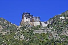 Kloster av Simonos Petra på Mount Athos Royaltyfria Foton