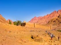Kloster av St Catherine Egypt Arkivbild