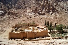 Kloster av St Catherine, Sinai Arkivfoton
