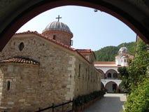 Kloster av St David Evia Royaltyfri Bild