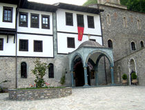 Kloster av St John det baptistiskt, Makedonien Arkivfoton