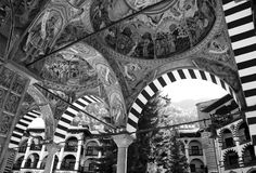 Kloster av St John Rilski, Rila berg, Bulgarien Arkivbilder