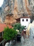 Kloster av St Nicholas av Sintza Arkivbilder