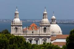 Kloster av St Vincent Outside väggarna i Lissabon, Portugal Royaltyfri Foto