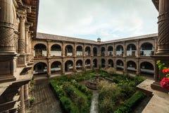 Kloster av vår dam av Förskoning Iglesia de La Merced i Cusco, Peru Arkivbild