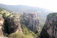 Kloster av Varlaam i Meteora Grekland Royaltyfri Foto