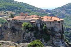 Kloster av Varlaam i Meteora, Grekland arkivfoto