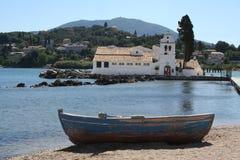 Kloster bei Kanoni, Korfu. Lizenzfreies Stockbild