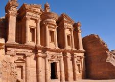 Kloster bei PETRA-Jordanien Stockfoto