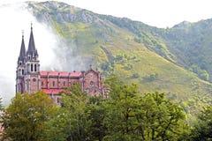 Kloster Covadonga Stockbild