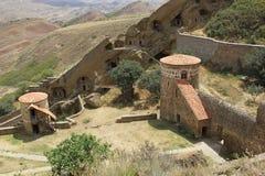 Kloster David Garedji, Kakheti; Georgia Europa Royaltyfri Fotografi
