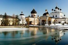 Kloster Davidov av ökenuppstigningen Arkivbilder