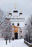 Kloster Davidova Pustin. Chekhov. Ryssland. Arkivfoton