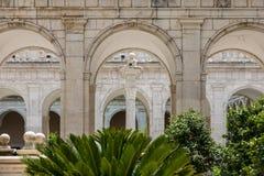 Kloster der Benediktinerabtei von Montecassino Lizenzfreie Stockfotos