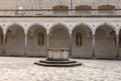 Kloster der Benediktinerabtei von Montecassino Stockbild