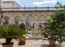 Kloster der Benediktinerabtei von Montecassino Ita Stockfotos