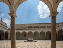 Kloster der Benediktinerabtei von Montecassino ital Lizenzfreie Stockfotos