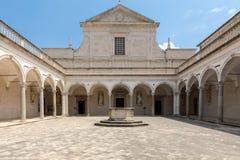 Kloster der Benediktinerabtei von Montecassino Italien Stockbild