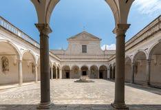 Kloster der Benediktinerabtei von Montecassino Italien Lizenzfreie Stockbilder