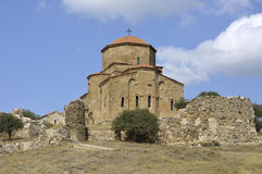 Kloster Djvari, Georgia Arkivbilder