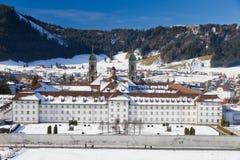 Kloster Einsiedeln im Winter, Lizenzfreies Stockbild
