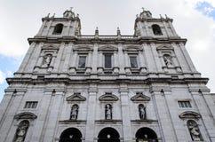 Kloster eller kyrka av São Vicente av för a i Lissabon, Portugal Arkivbild