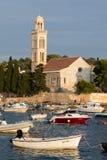 kloster för århundrade för th 15 Franciscan i Hvar, Kroatien royaltyfria bilder