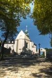 Kloster för bergSt Anna Basilica Franciscan arkivfoto