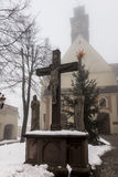 Kloster för bergSt Anna Basilica Franciscan och Internaten Arkivfoto