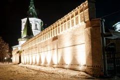 Kloster för helig Treenighet i skymning Tyumen Ryssland Royaltyfria Bilder