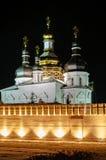 Kloster för helig Treenighet i skymning Tyumen Ryssland Royaltyfri Bild