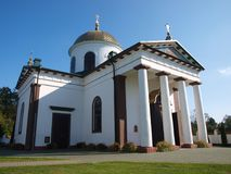 Kloster för JabÅ 'eczna, Polen arkivbild