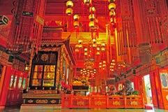Kloster för Po lin, Hong Kong Arkivbild