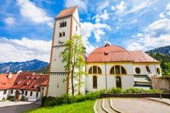 Kloster för St Mang, Fussen Arkivfoto