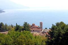 Kloster för St Panteleimon i Ohrid Fotografering för Bildbyråer