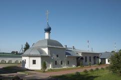 Kloster för St Theodors, kyrkan av den Kazan symbolen av kvickheten Arkivfoto