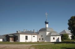 Kloster för St Theodors, kyrkan av den Kazan symbolen av kvickheten Royaltyfri Foto