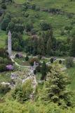 Kloster Glendalough in Irland Lizenzfreie Stockbilder