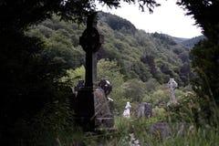 Kloster Glendalough in Irland Stockbild