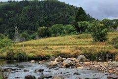 Kloster Glendalough in Irland Stockfotografie