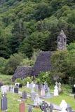 Kloster Glendalough in Irland Stockbilder