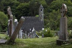 Kloster Glendalough in Irland Stockfotos