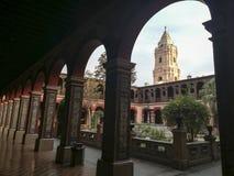 Kloster i kloster av Santo Domingo, Lima, Peru arkivfoto